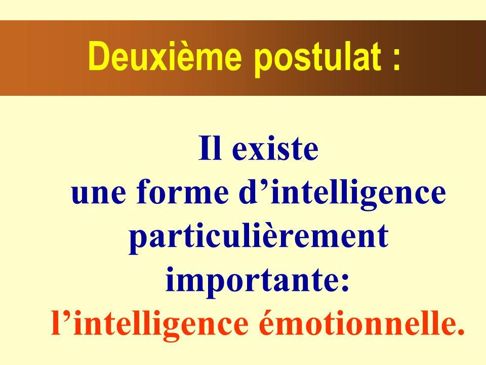 une forme d'intelligence particulièrement importante: