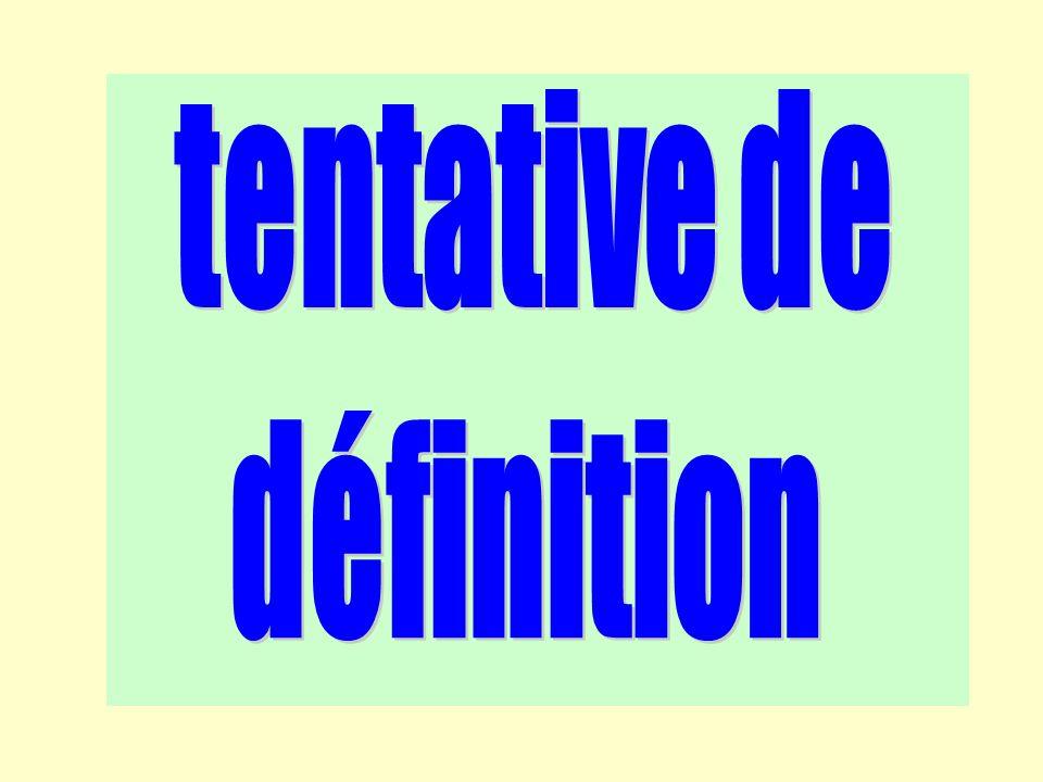 tentative de définition