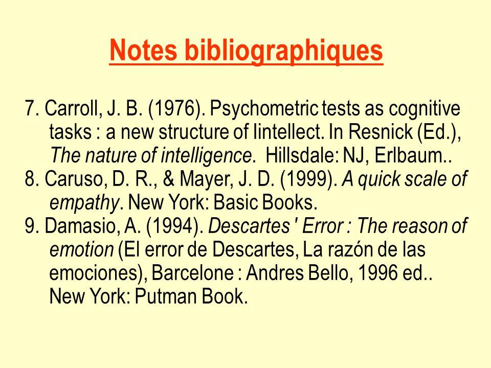Notes bibliographiques