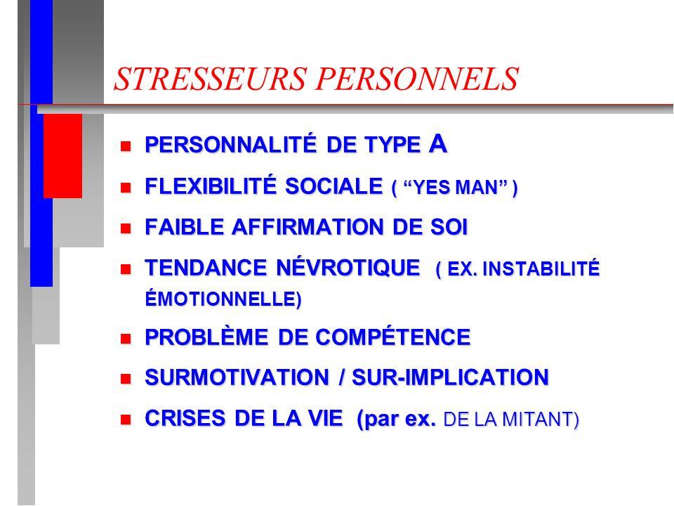STRESSEURS PERSONNELS