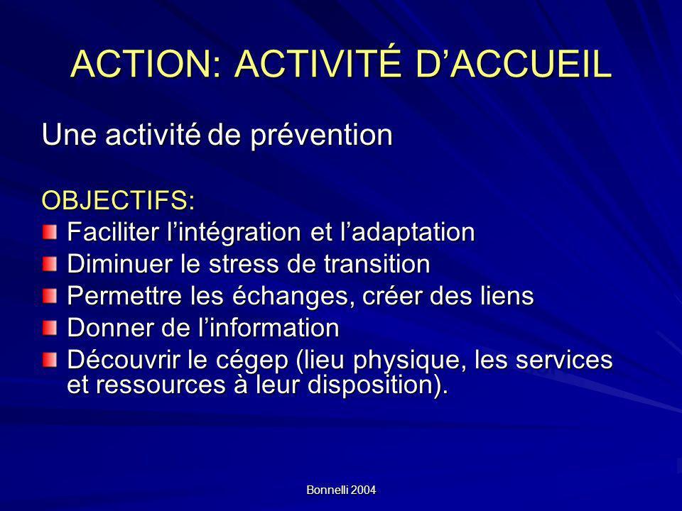 ACTION: ACTIVITÉ D'ACCUEIL