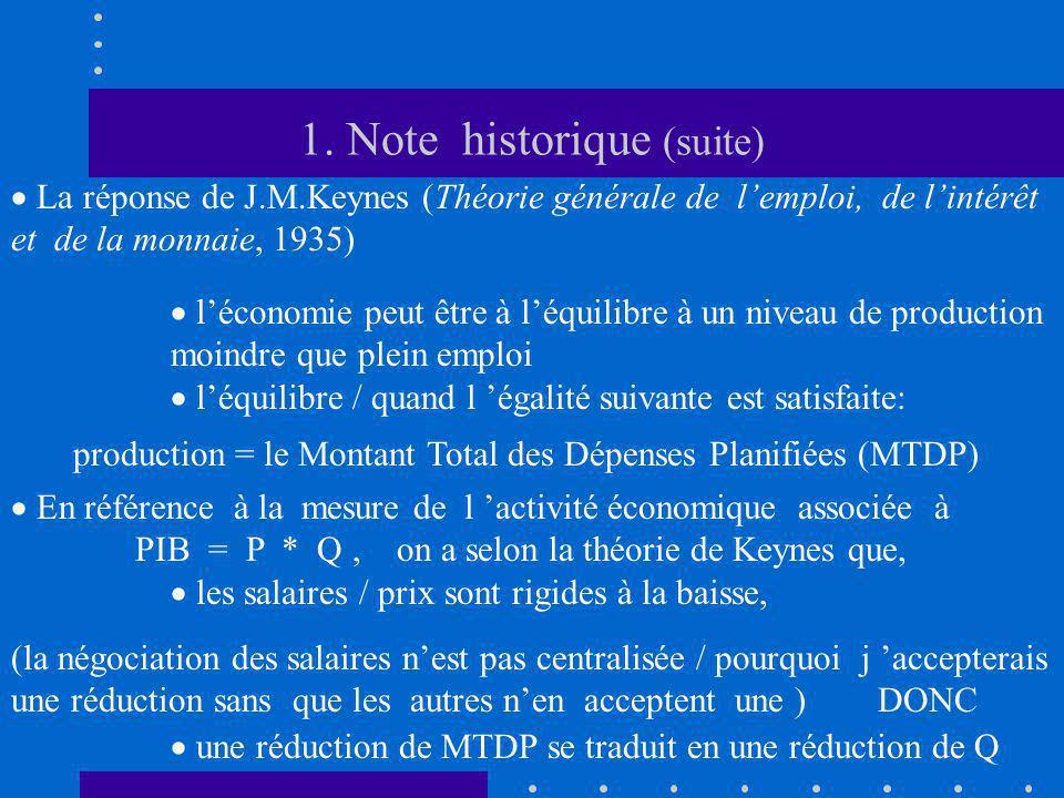 1. Note historique (suite)