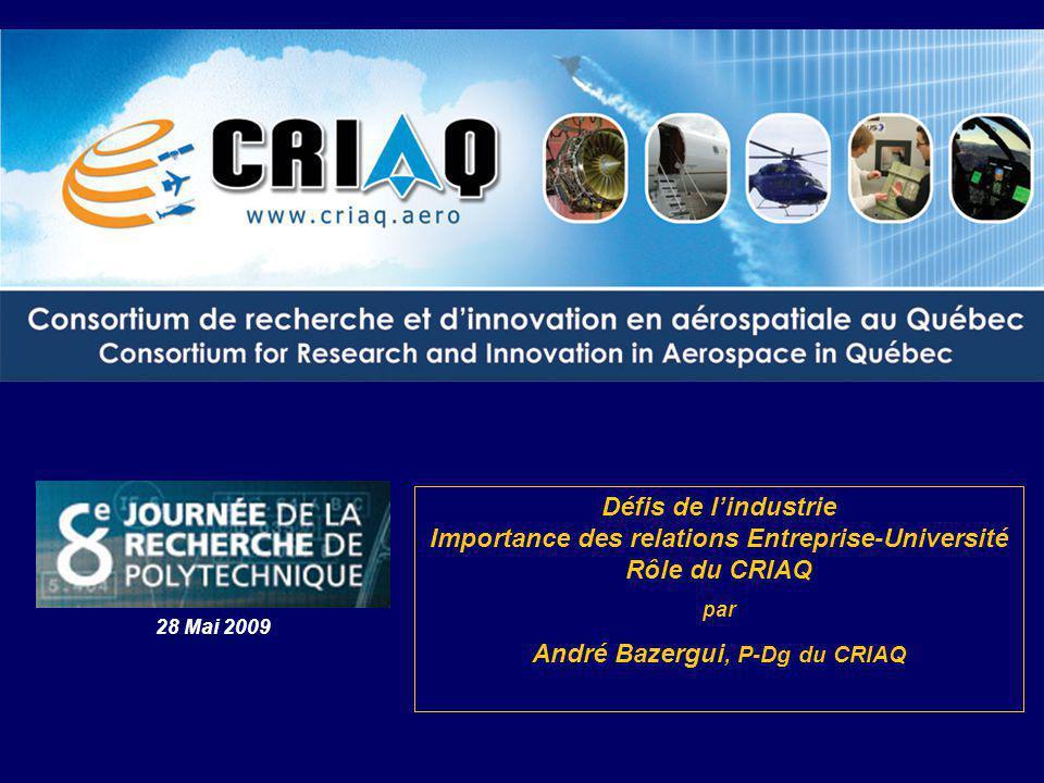 André Bazergui, P-Dg du CRIAQ