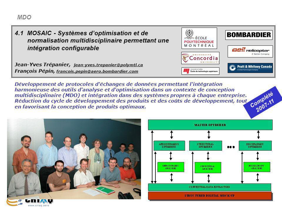 MDO 4.1 MOSAIC - Systèmes d'optimisation et de normalisation multidisciplinaire permettant une intégration configurable.