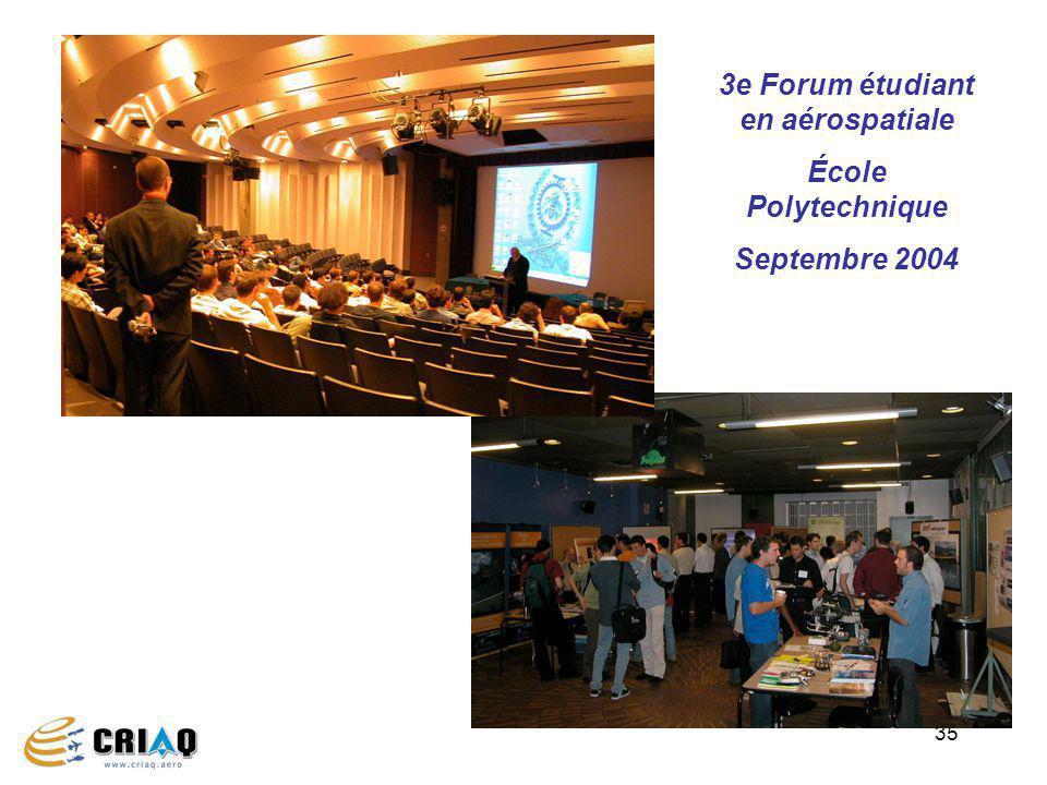3e Forum étudiant en aérospatiale