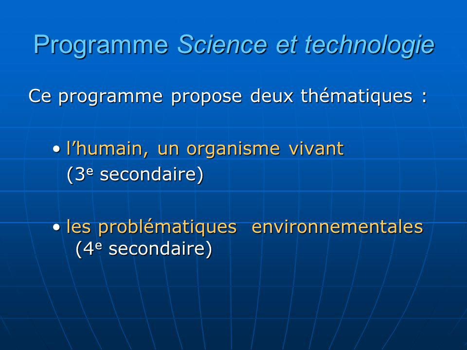 Programme Science et technologie