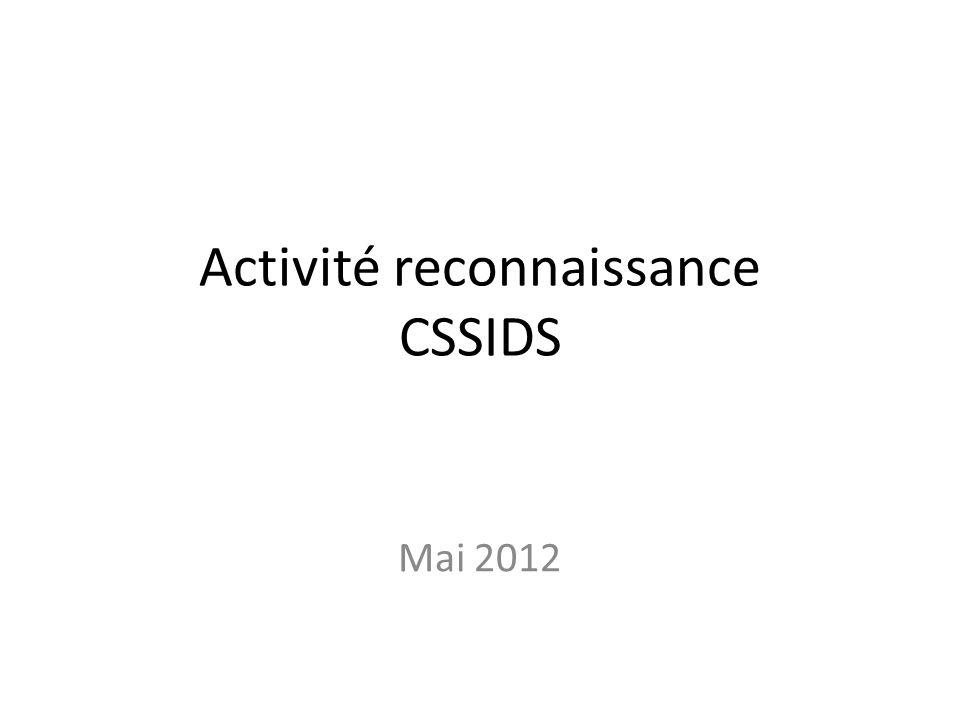 Activité reconnaissance CSSIDS