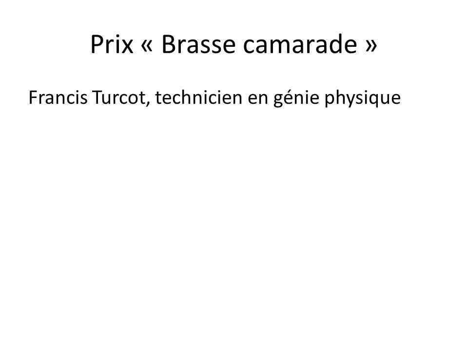 Prix « Brasse camarade »