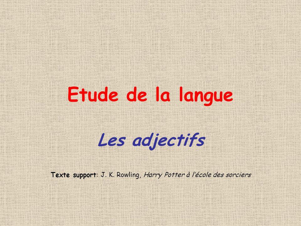 Texte support: J. K. Rowling, Harry Potter à l'école des sorciers
