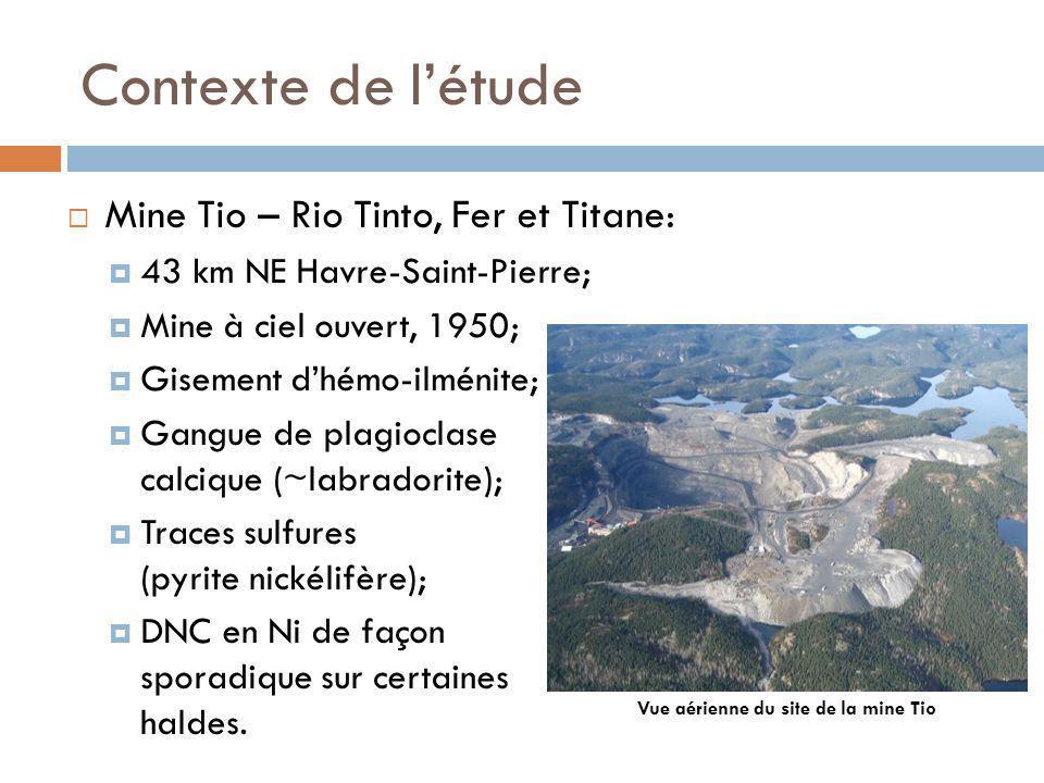Vue aérienne du site de la mine Tio