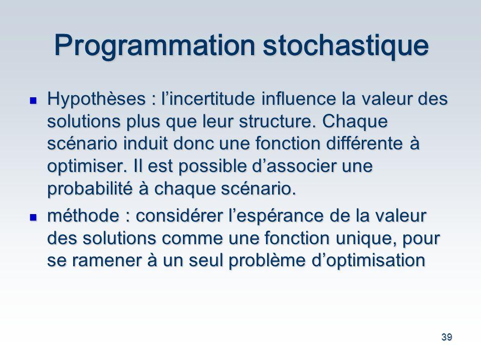 Programmation stochastique