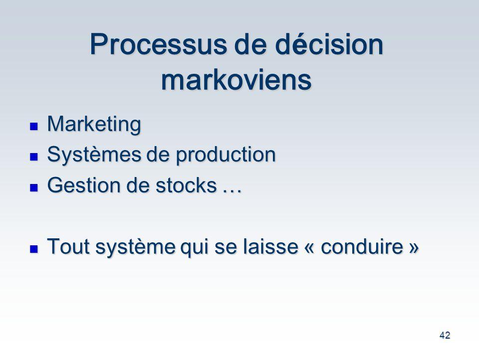 Processus de décision markoviens