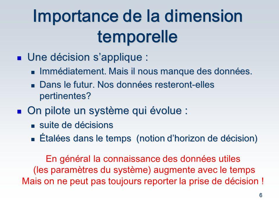 Importance de la dimension temporelle