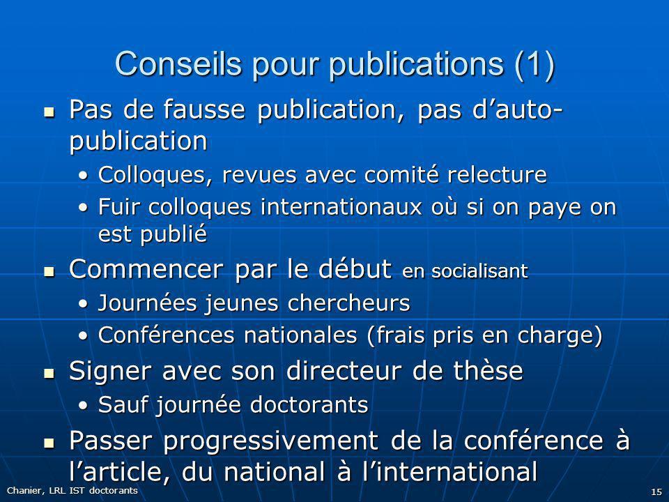 Conseils pour publications (1)