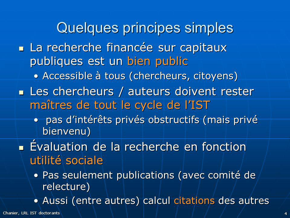 Quelques principes simples