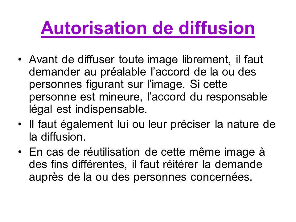 Autorisation de diffusion