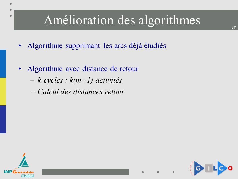Amélioration des algorithmes