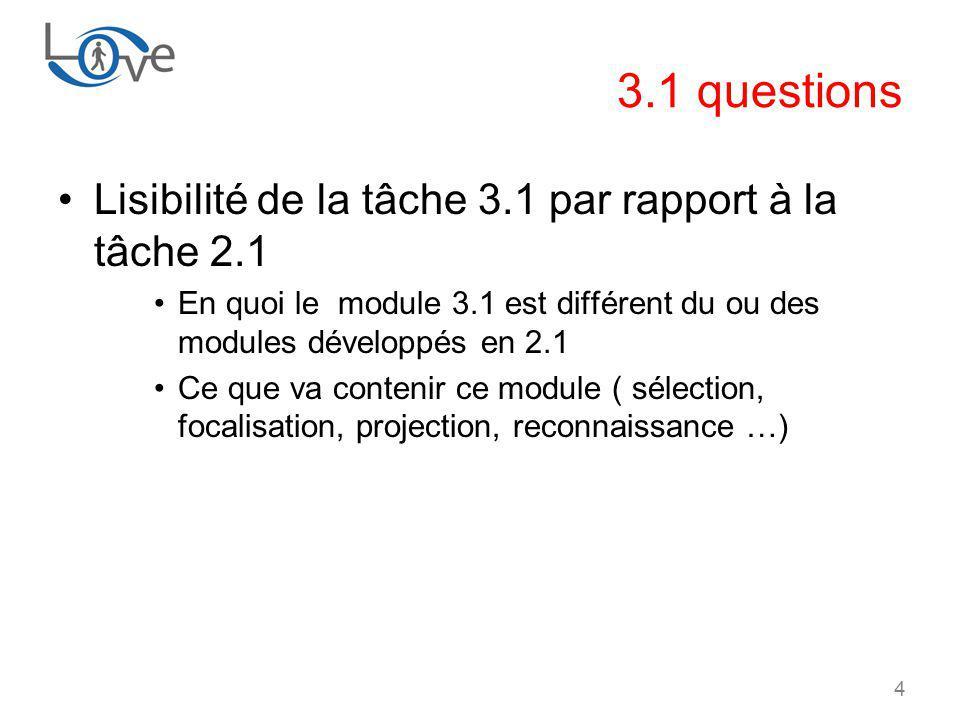 3.1 questions Lisibilité de la tâche 3.1 par rapport à la tâche 2.1