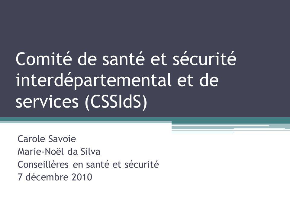 Comité de santé et sécurité interdépartemental et de services (CSSIdS)