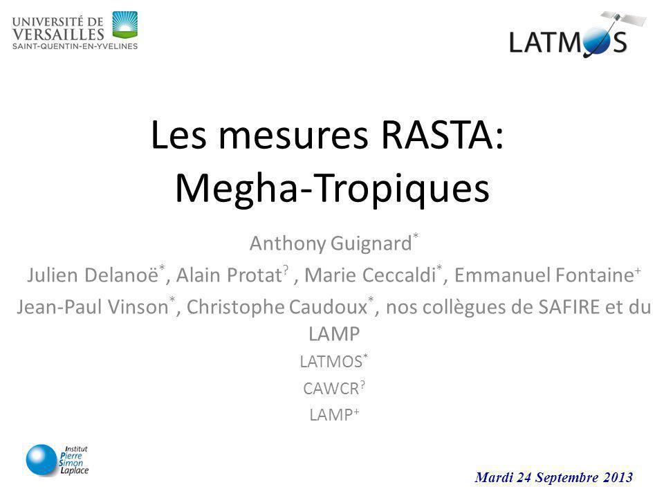 Les mesures RASTA: Megha-Tropiques