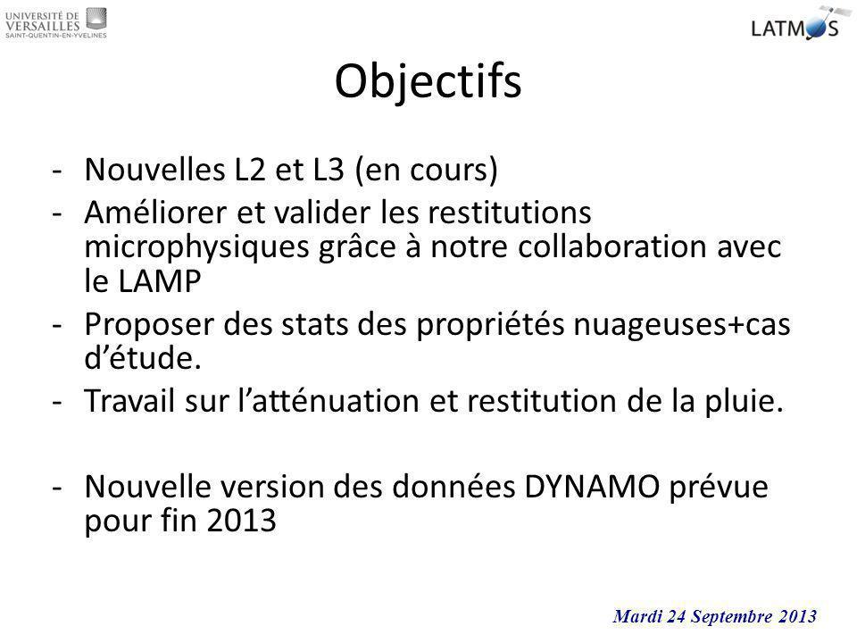 Objectifs Nouvelles L2 et L3 (en cours)