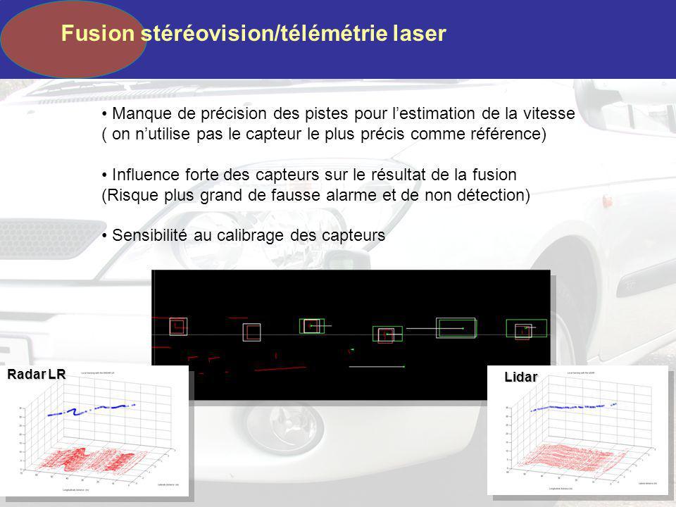 Fusion stéréovision/télémétrie laser