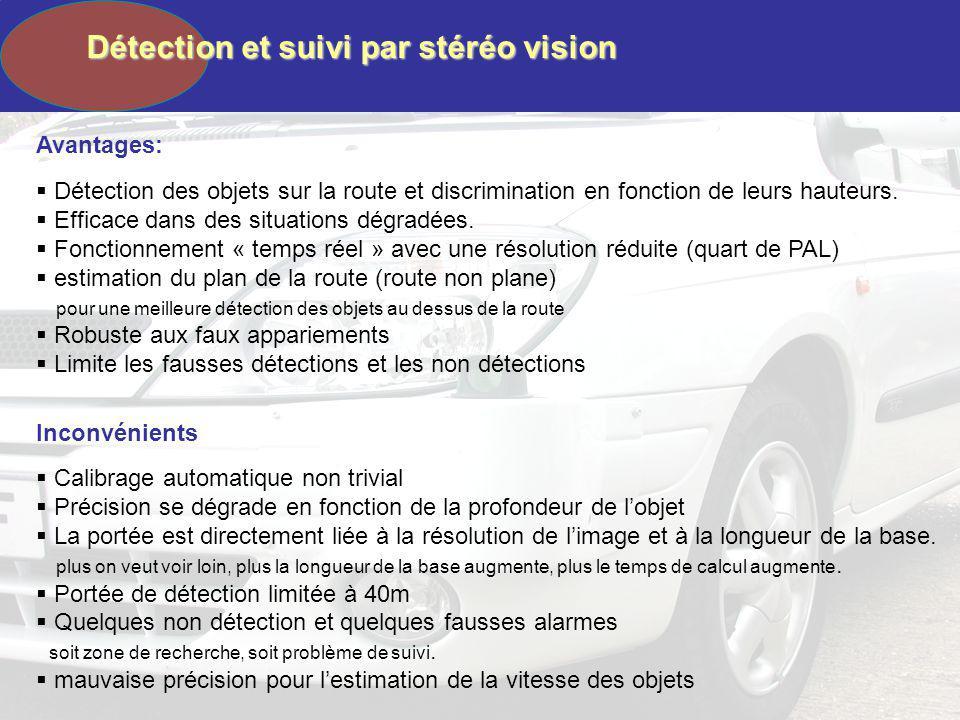 Détection et suivi par stéréo vision