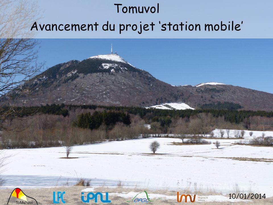 Tomuvol Avancement du projet 'station mobile'