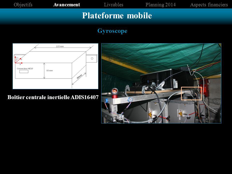 Plateforme mobile Gyroscope Boîtier centrale inertielle ADIS16407