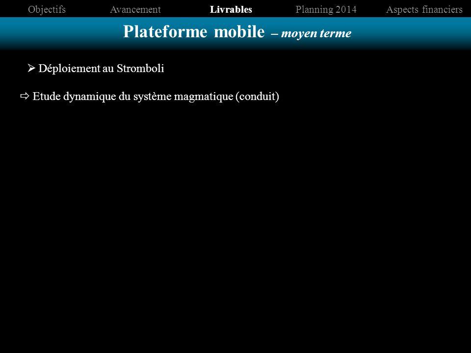 Plateforme mobile – moyen terme