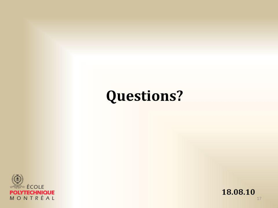 Questions 18.08.10