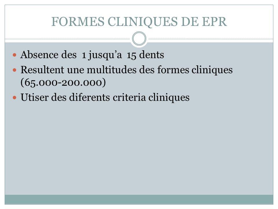 FORMES CLINIQUES DE EPR