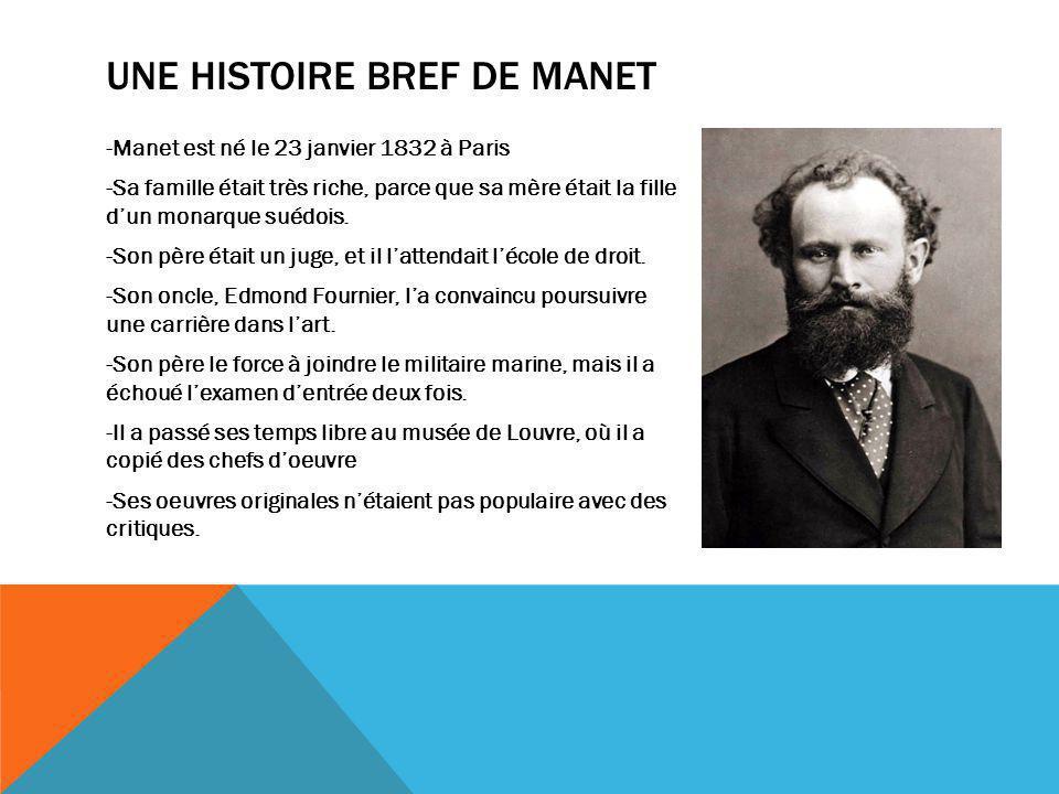 Une Histoire Bref de Manet