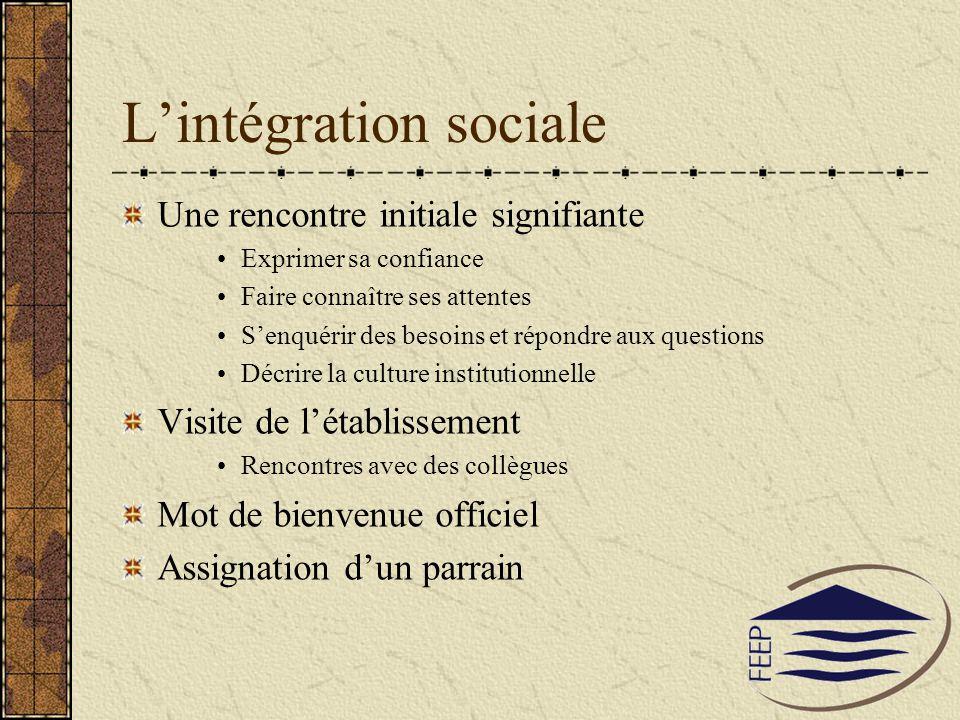 L'intégration sociale