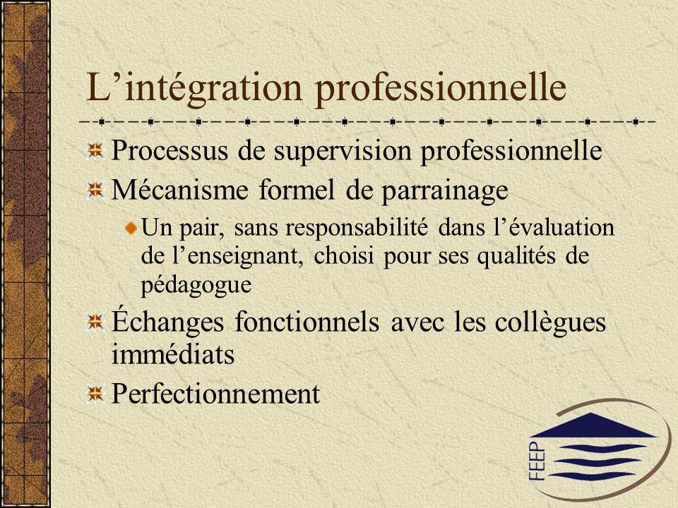 L'intégration professionnelle