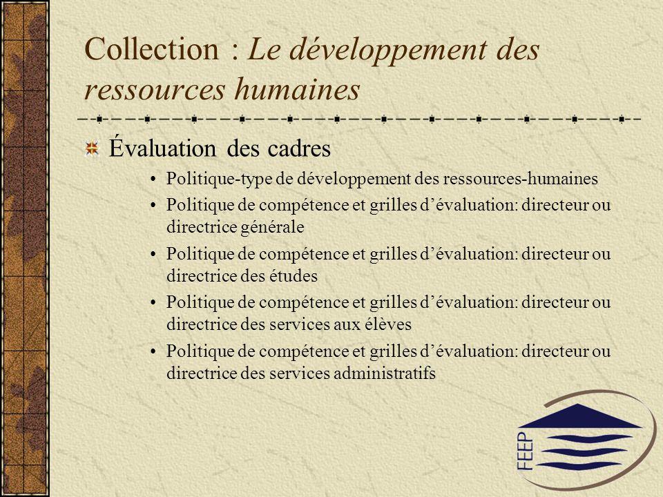 Collection : Le développement des ressources humaines