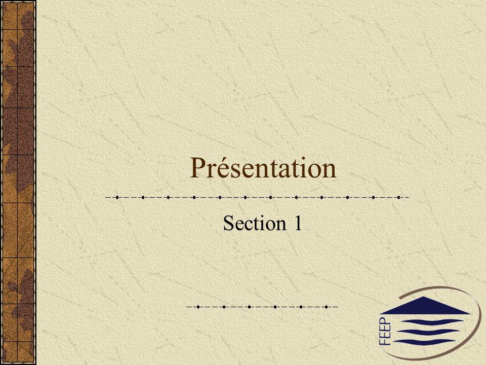 Présentation Section 1