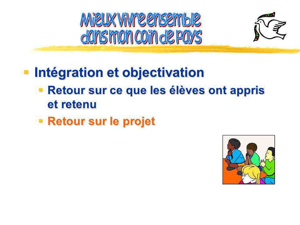 Intégration et objectivation