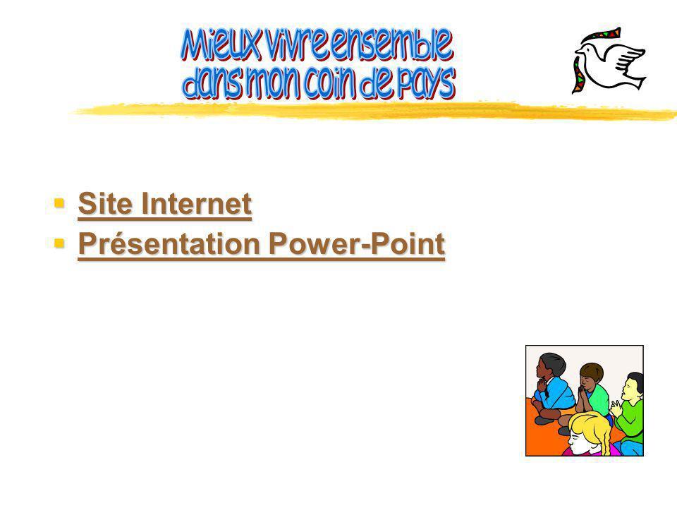 Mieux vivre ensemble dans mon coin de pays Site Internet Présentation Power-Point