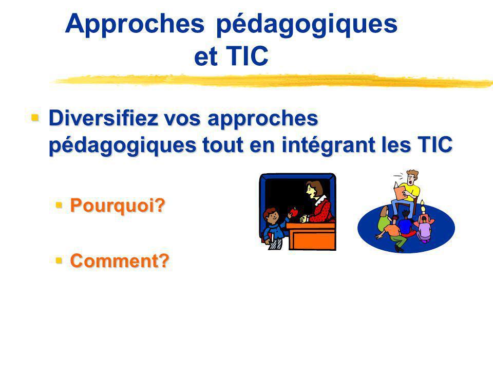 Approches pédagogiques et TIC