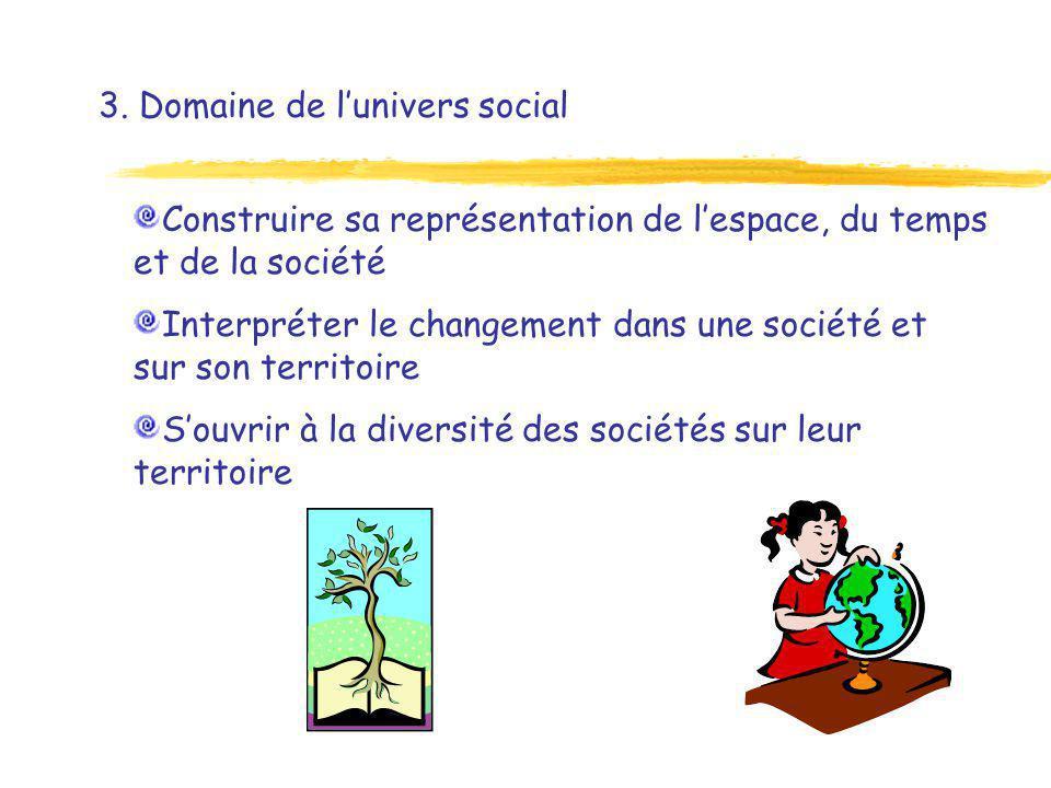 3. Domaine de l'univers social