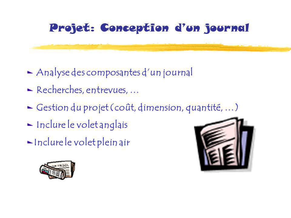 Projet: Conception d'un journal