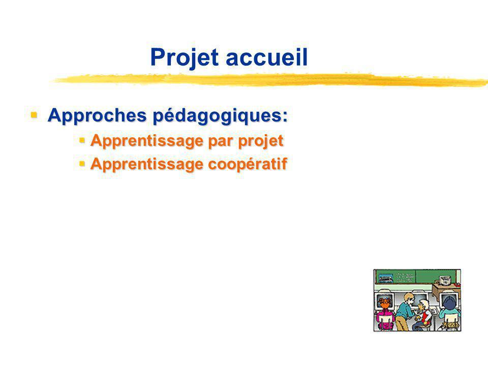 Projet accueil Approches pédagogiques: Apprentissage par projet