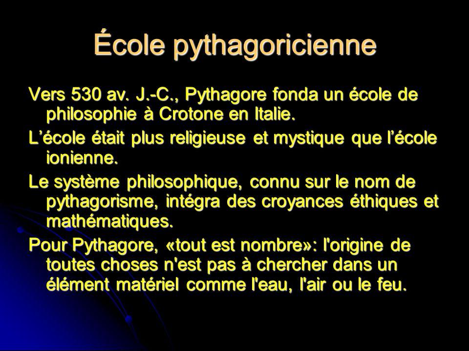 École pythagoricienne