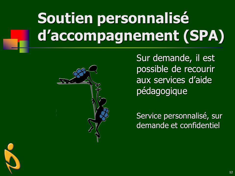 Soutien personnalisé d'accompagnement (SPA)
