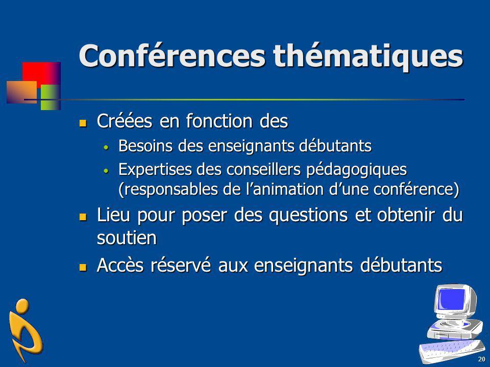 Conférences thématiques