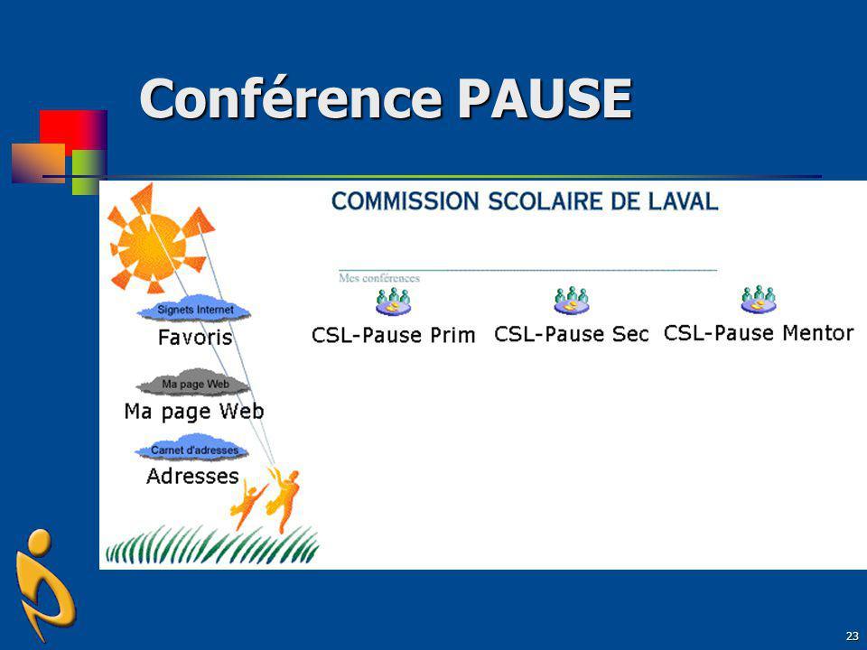 Conférence PAUSE