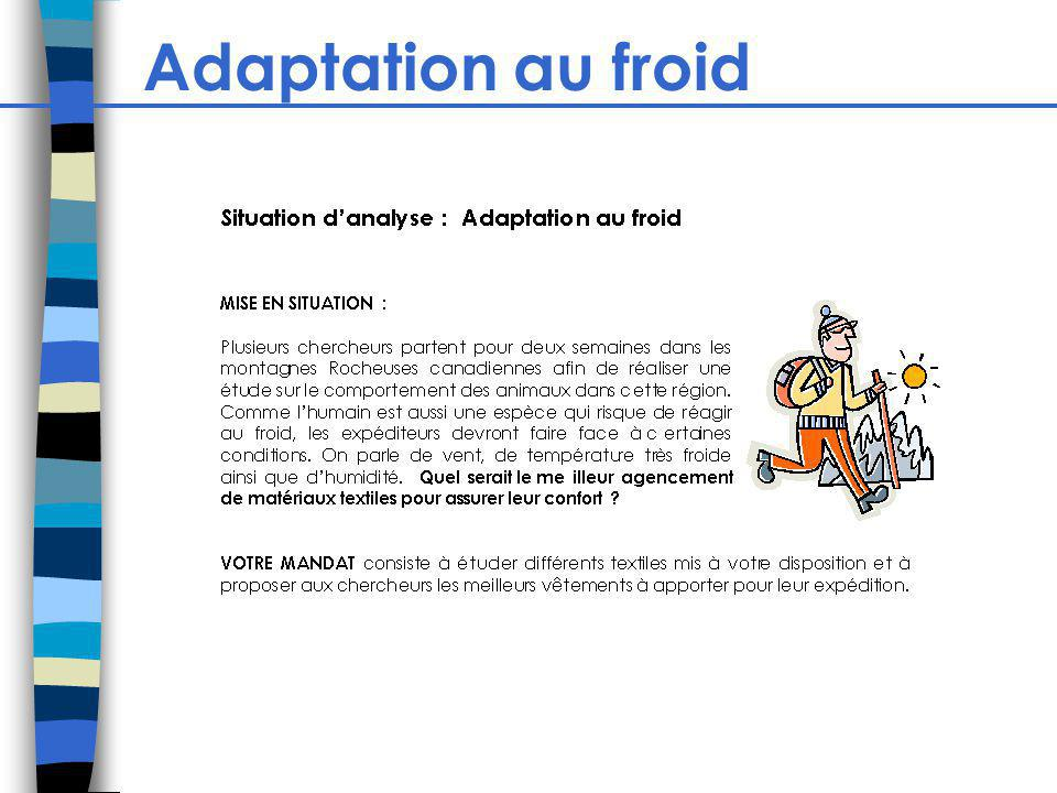 Adaptation au froid