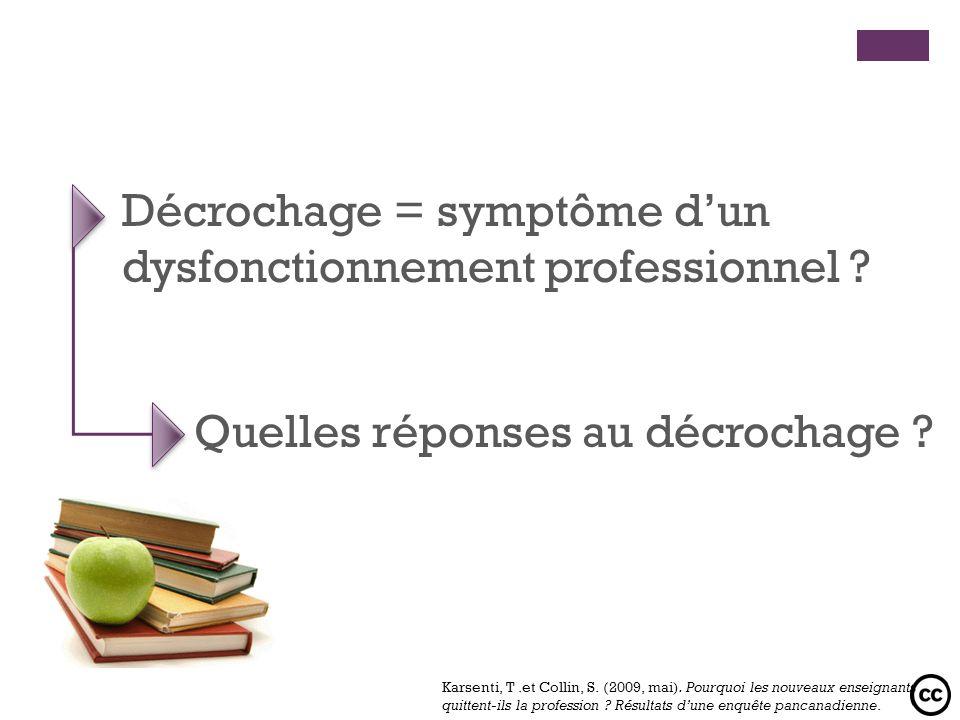 Décrochage = symptôme d'un dysfonctionnement professionnel