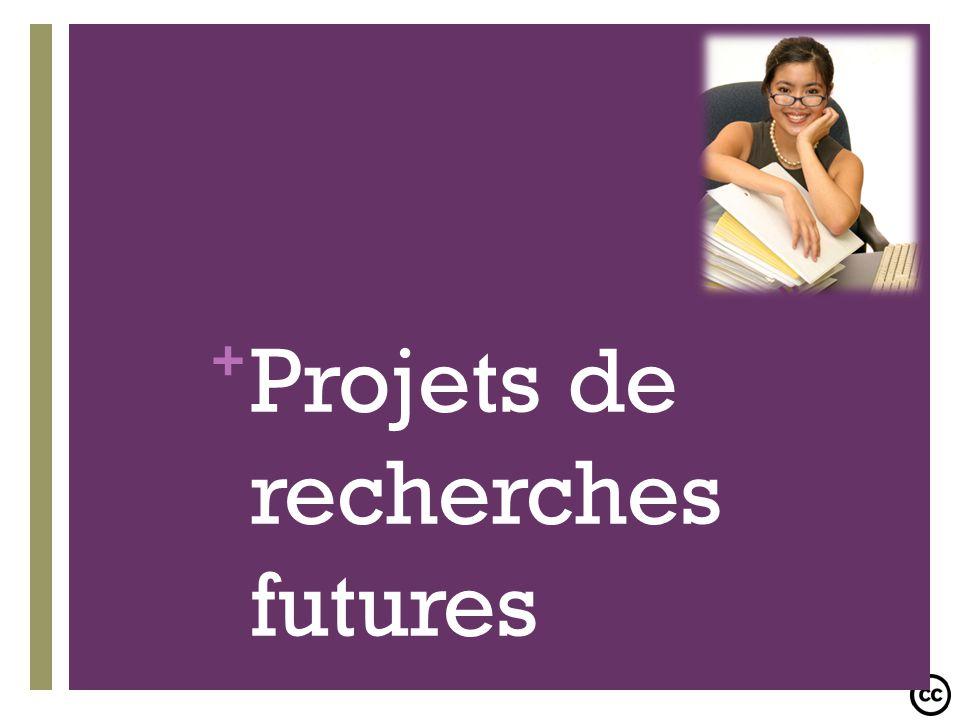 Projets de recherches futures